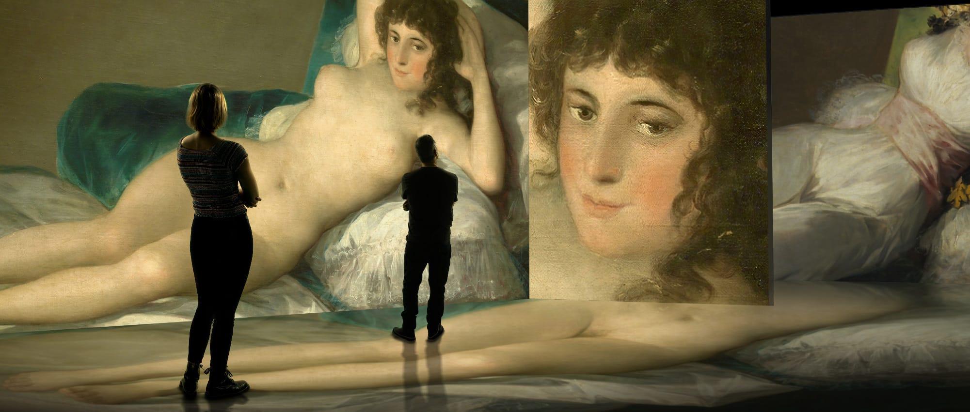 La maja desnuda en #INGOYA, experiencia inmersiva